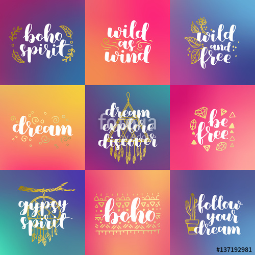 vector free library hand drawn set of quotes about wild spirit