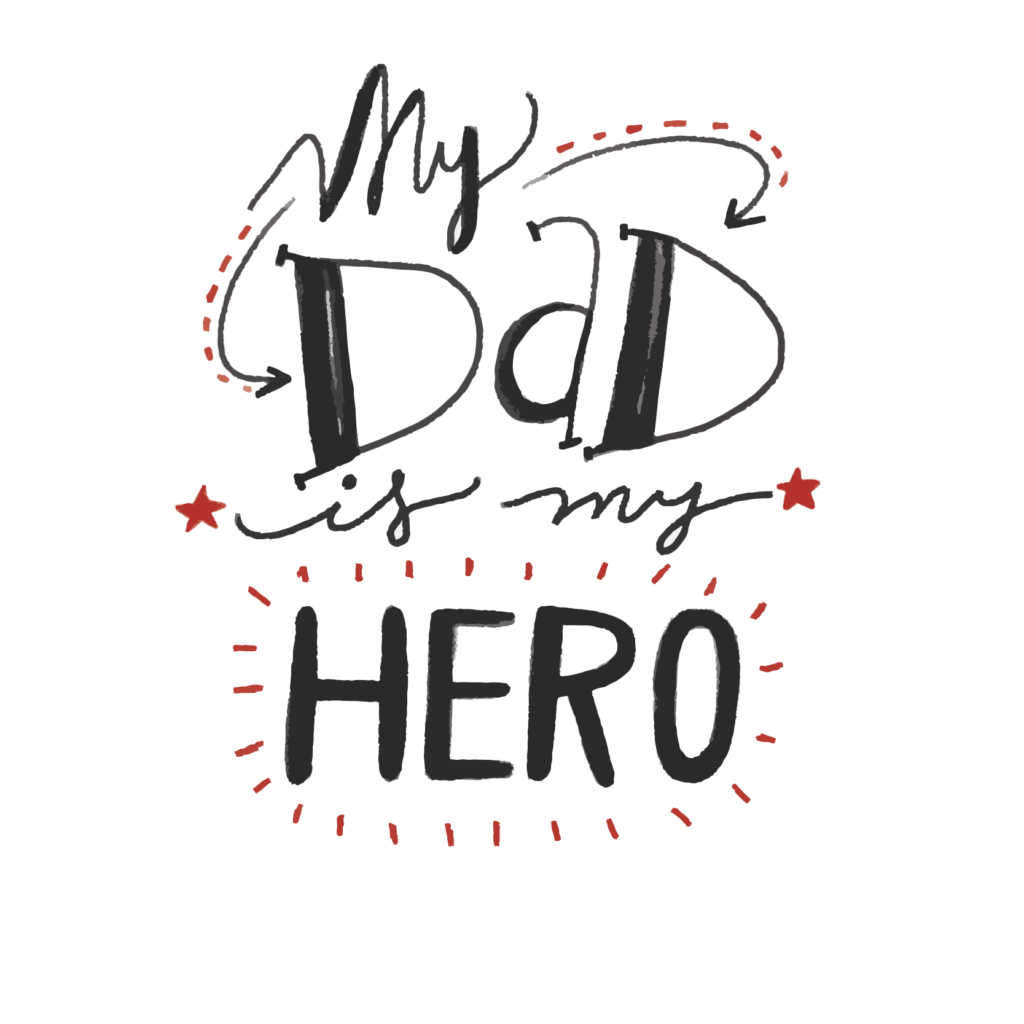 black and white download Fathers Day PNG Quotes