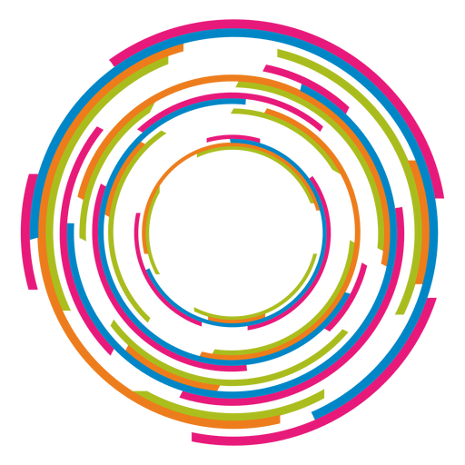 image freeuse stock Colorful rings logo