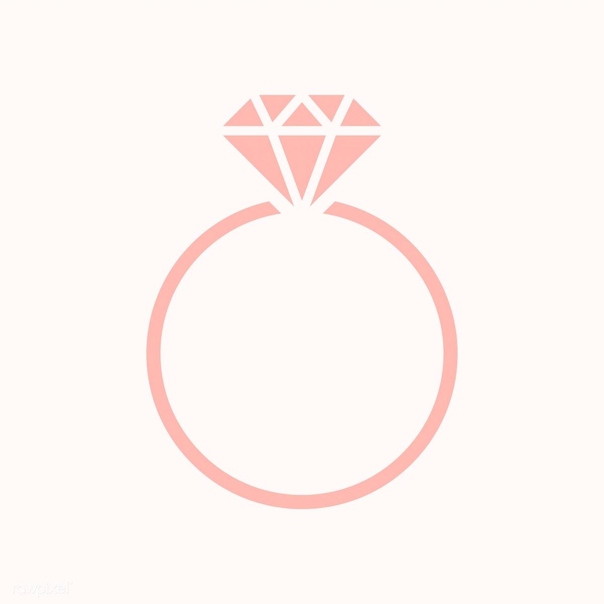 svg transparent Diamond wedding ring graphic illustration