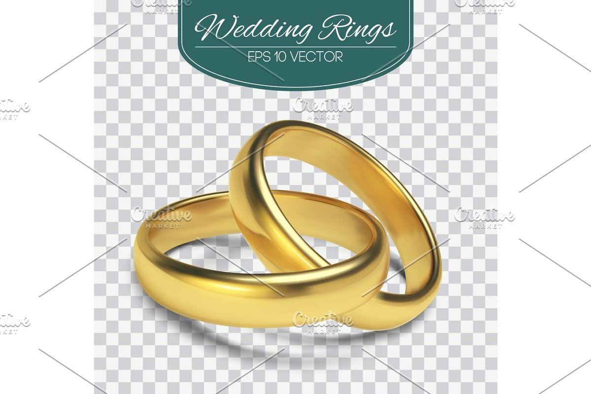 picture transparent library Gold vector wedding rings isolated on trasparent background