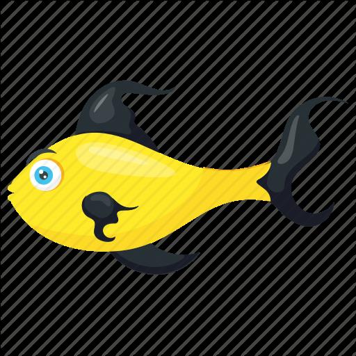 svg free download Vector river fish cartoon. Sea animals by vectors