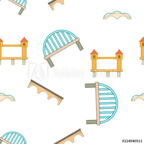 image royalty free library Vector river pattern. Crossing cartoon illustration of