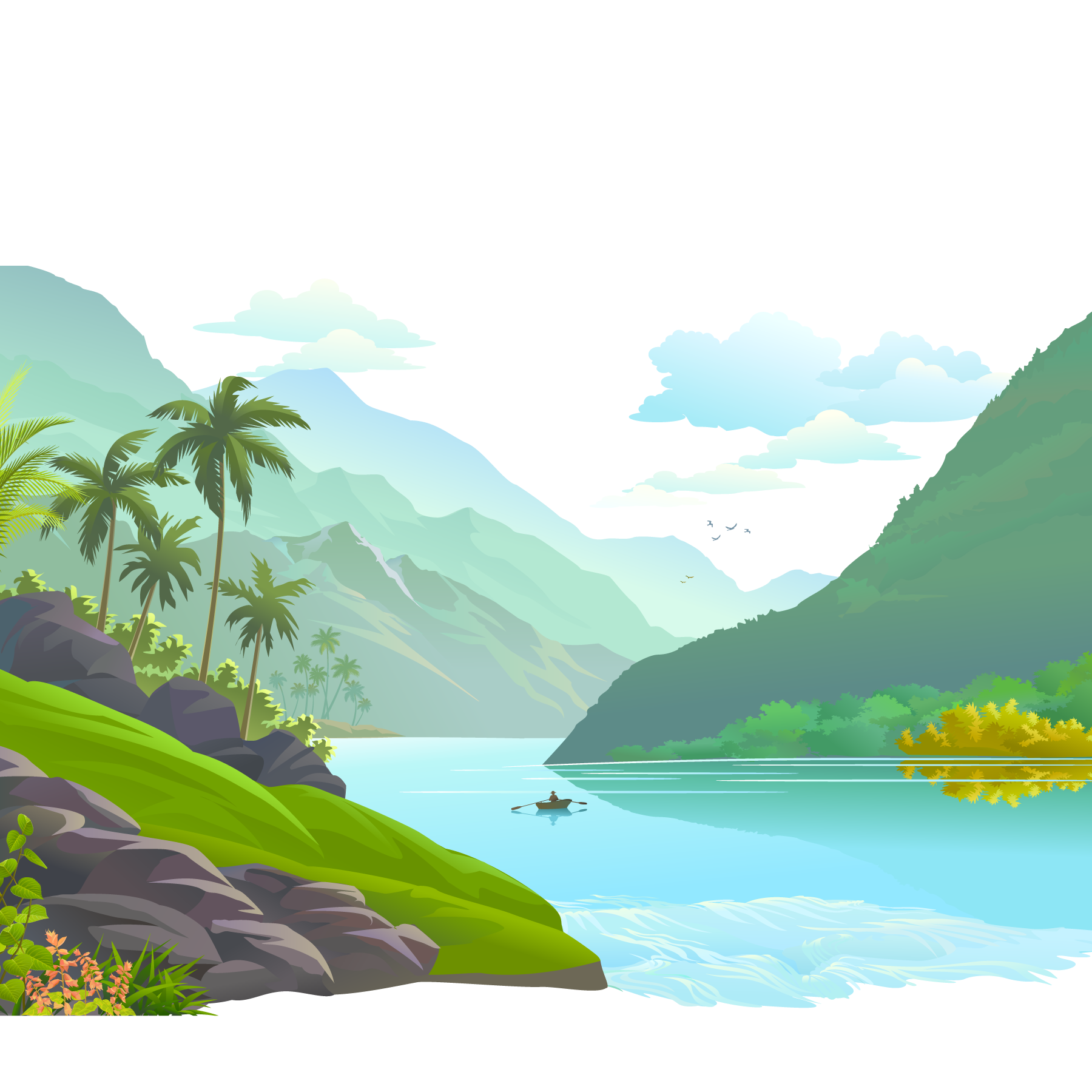 svg black and white Mount Scenery Illustration