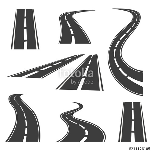 vector library stock Vector road. Icons highways and roads