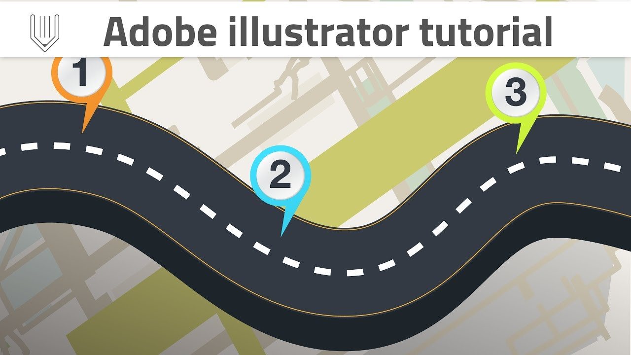 jpg download Adobe illustrator tutorial infographic. Vector road wavy