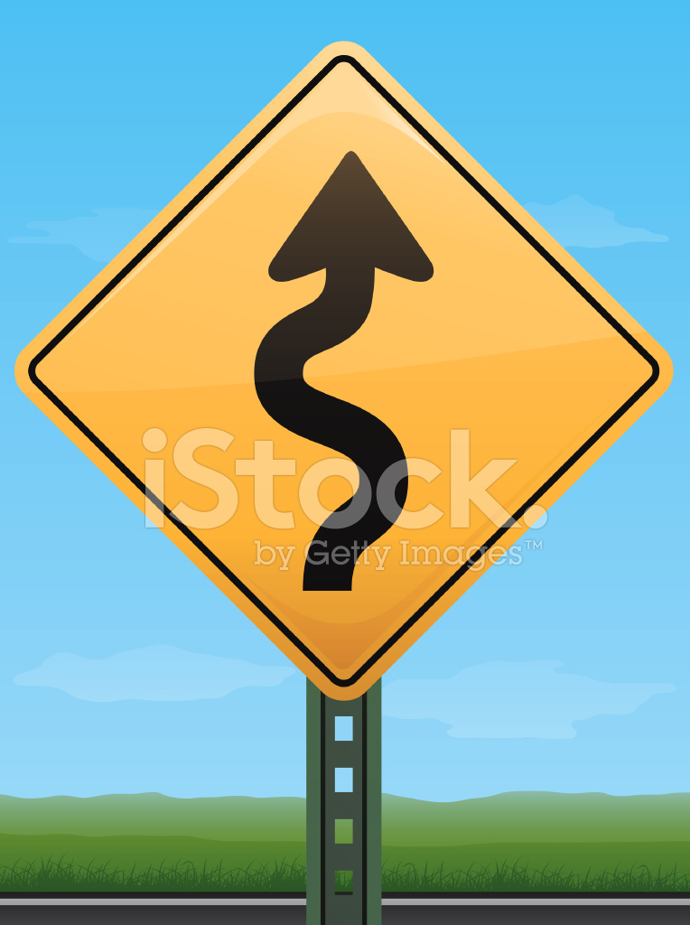picture royalty free library Vector road wavy. Sign stock freeimages com