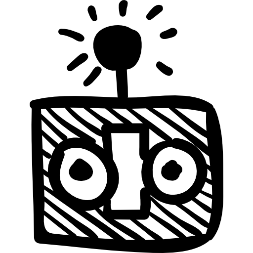 vector library library Robot head with an antenna