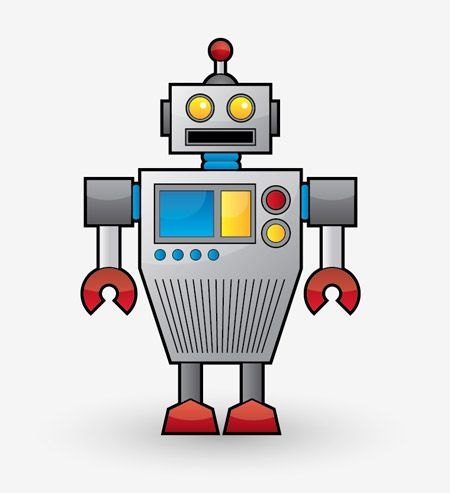 vector freeuse stock Create a Cool Vector Robot Character in Illustrator
