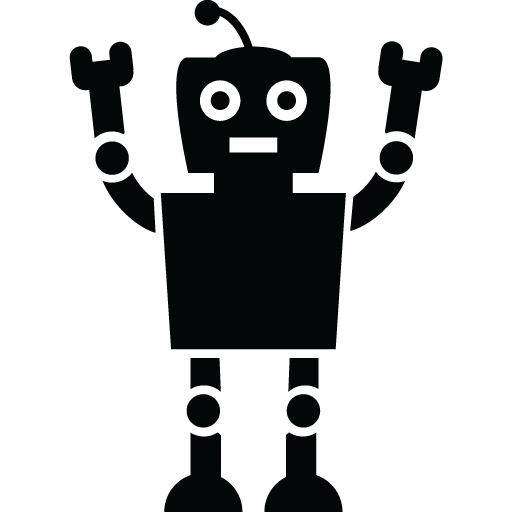 clipart freeuse stock Vector robot black and white. Like how it was