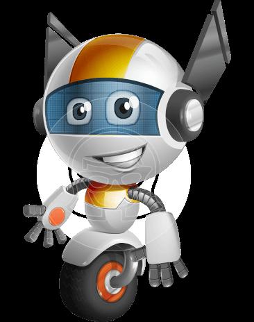 royalty free Robot Vector Cartoon Characters