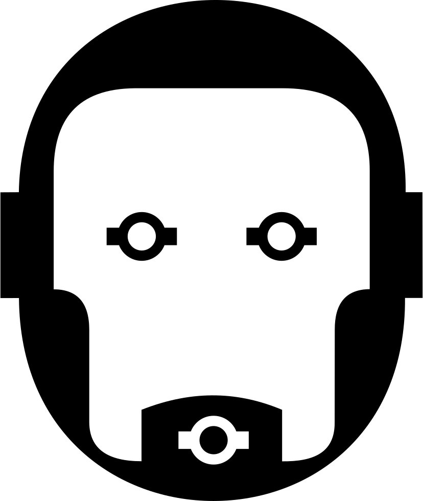 picture black and white library Robot Face Svg Png Icon Free Download