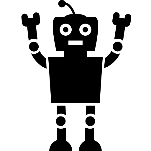jpg black and white Robots Icon
