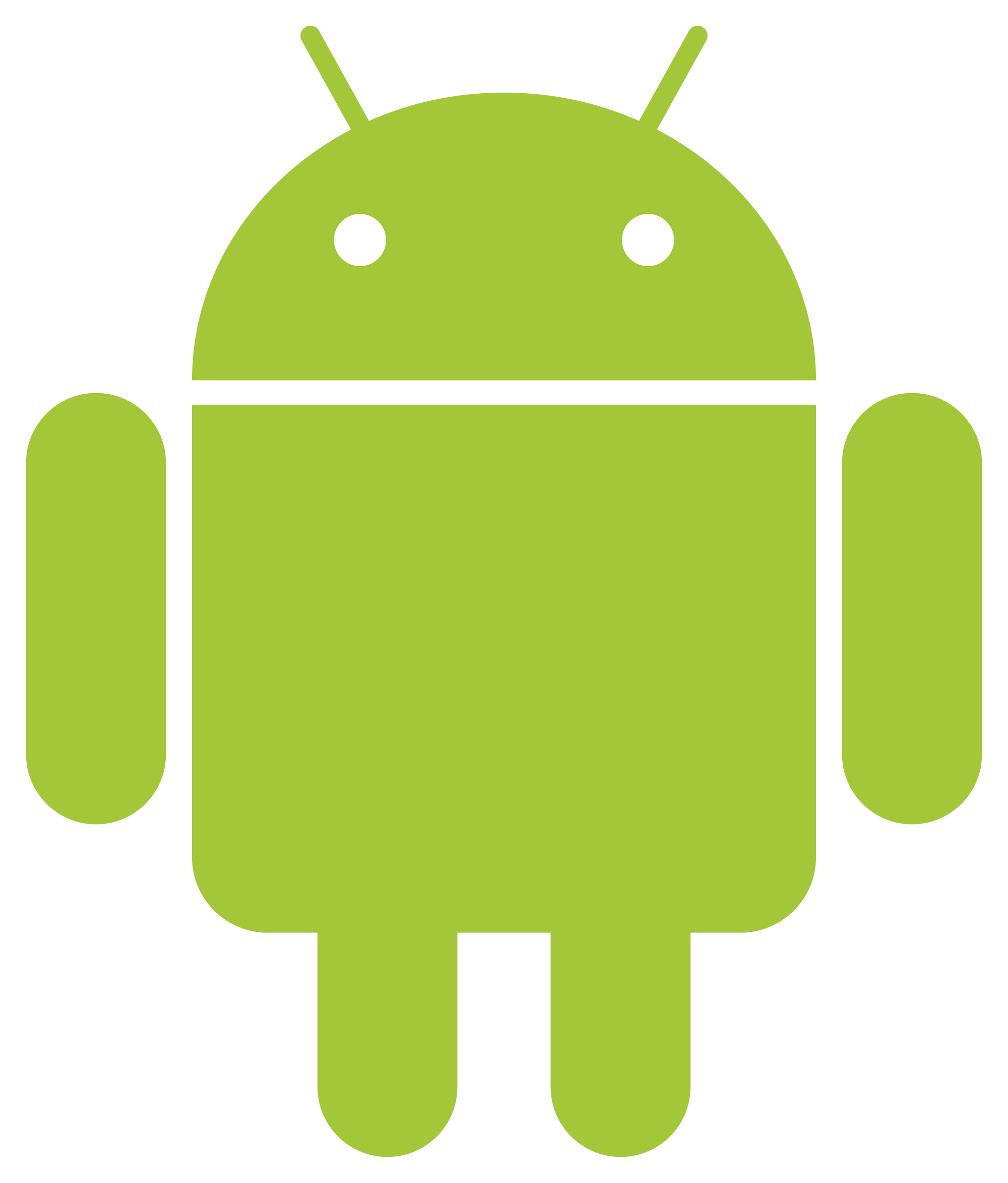 clip stock Collection of free robot. Using svg android