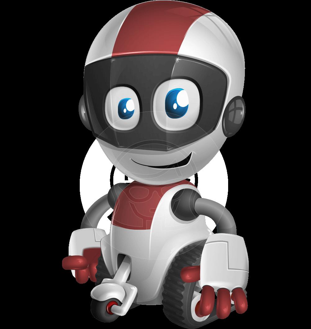 clip art Vector Cute Small Robot Character