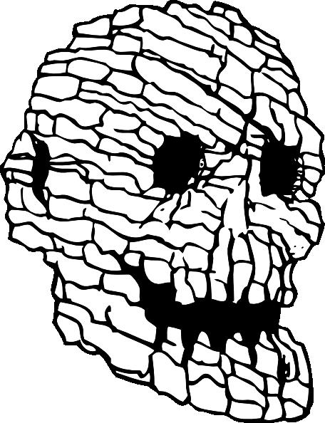 svg freeuse stock Rock Skull Clip Art at Clker