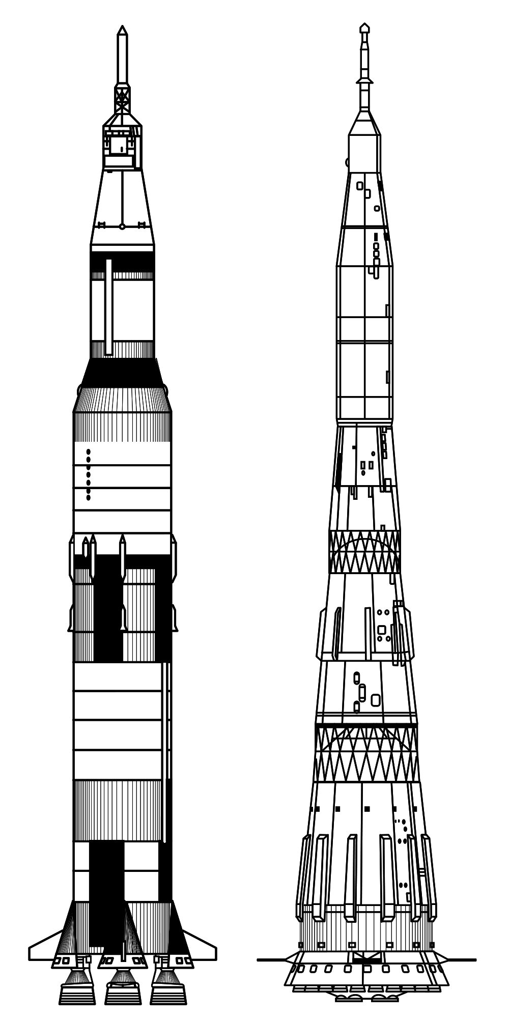 jpg black and white library vector rockets apollo rocket #118411613