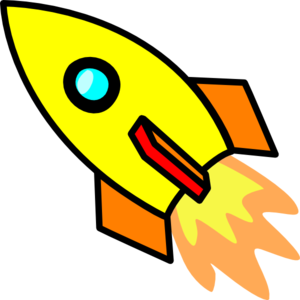 clipart library library Yellow clip art at. Vector rockets rocket clipart