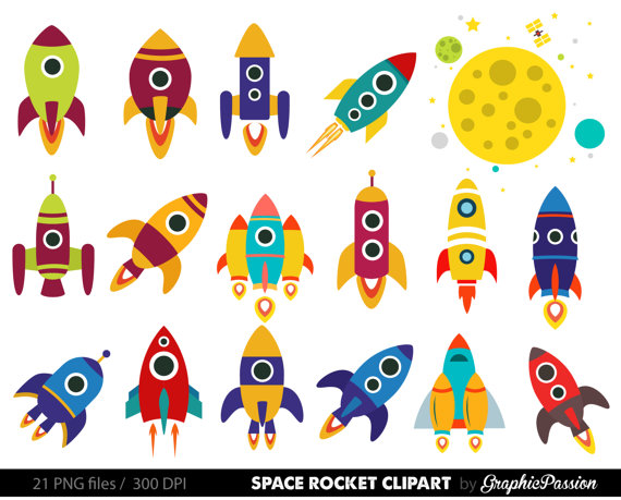 png library download Vector rockets rocket ship. Retro clip art clipart
