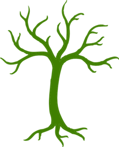 jpg black and white download Green Tree Without Leaves Clip Art at Clker