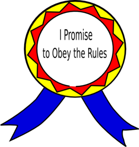 banner library stock Obey The Rules Badge Clip Art at Clker