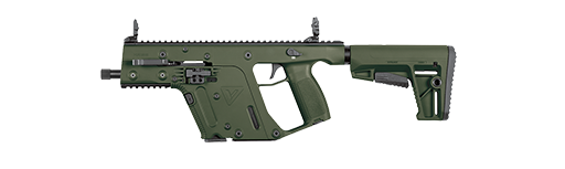 vector freeuse Sbr black od green. Vector carbine kriss usa