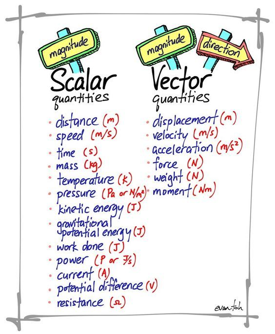 svg black and white library Vector scalar. And quantities anchor charts