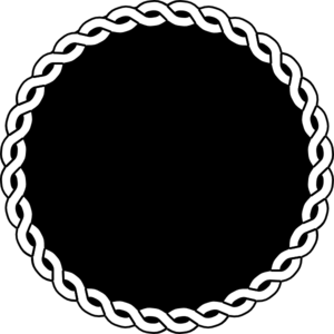 vector library stock Vector seal. Black rope border clip