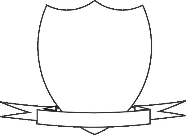 image Shield clip art at. Vector crest ribbon