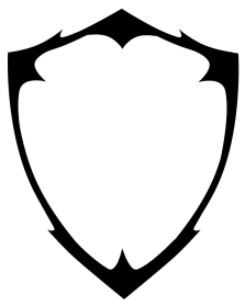 clip art transparent library Vector crest template. Blank shield logo png