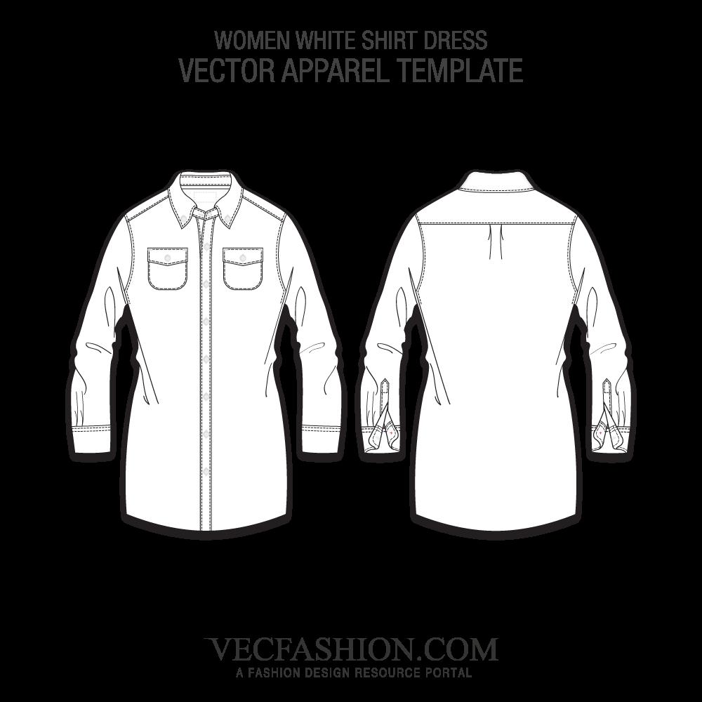 clip art royalty free Vector clothing fashion design. White shirt dress template