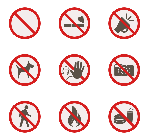 image black and white library Vector signs. Warning sign icons free