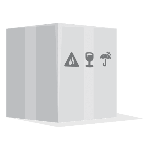 picture freeuse White box with package. Vector signs
