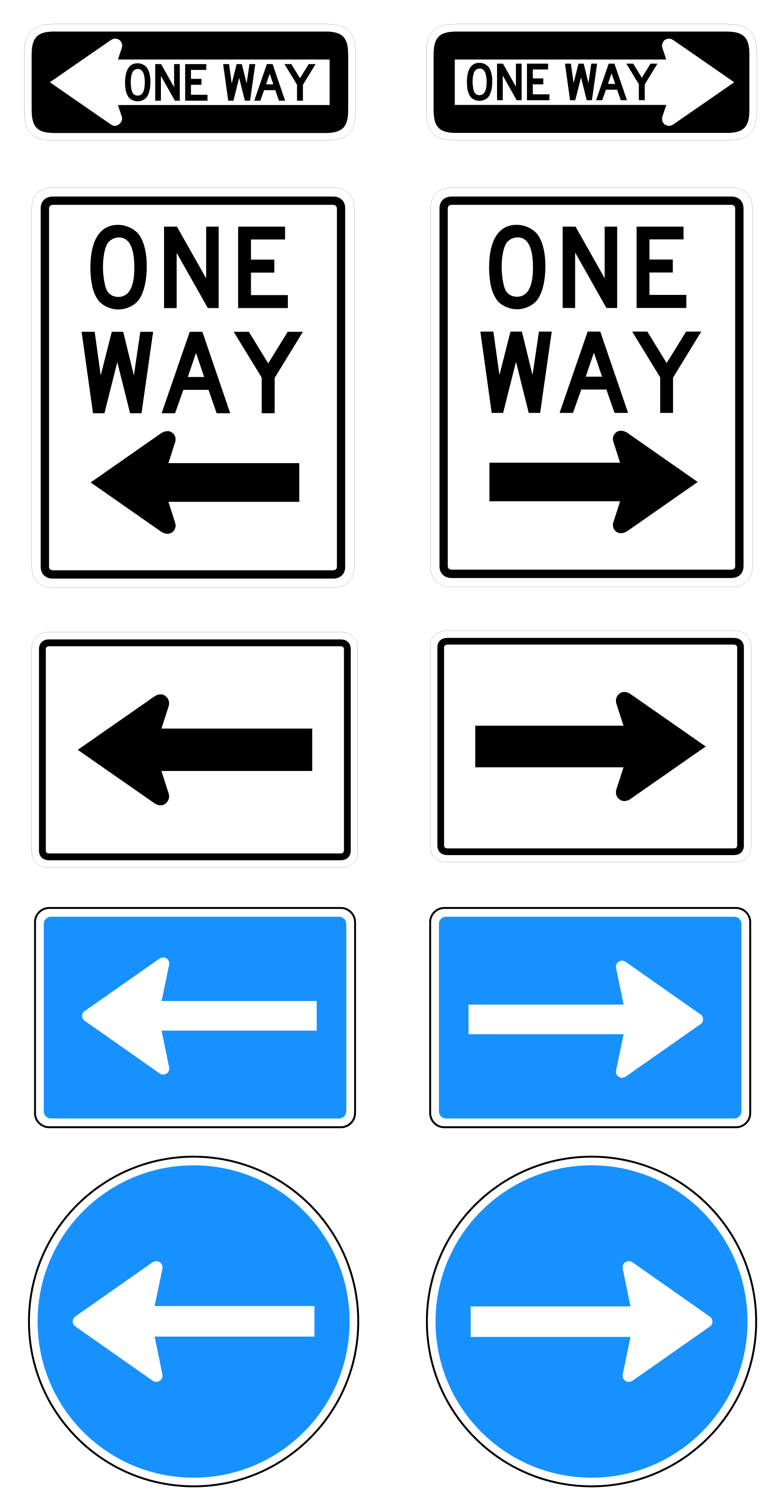 picture stock Free one way road. Vector signs
