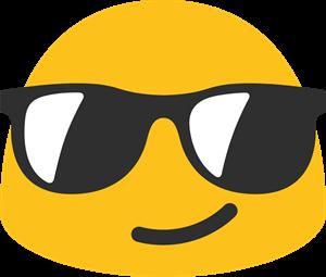 banner royalty free Smile logo vectors free. Vector emojis sunglasses