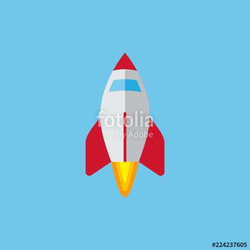 graphic transparent library Vector spaceship colored. Colorful icon flying on