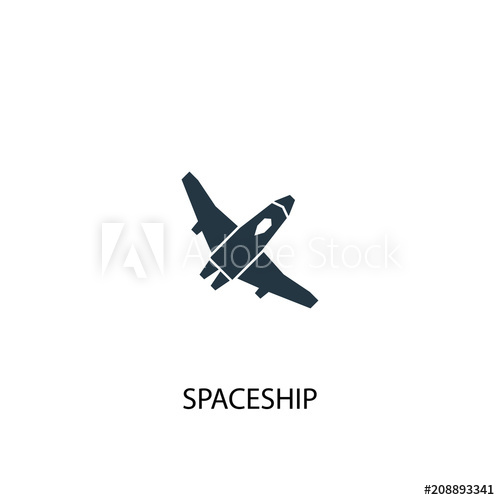 jpg transparent library Icon simple illustration buy. Vector spaceship element