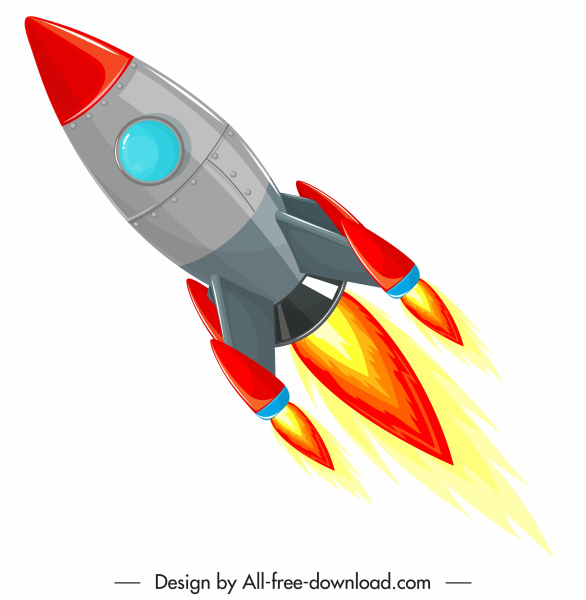 jpg freeuse library Vector spaceship icon. Rocket colorful modern design