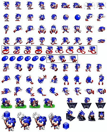 clip download  the hedgehog objects. Vector sprites sonic 1.