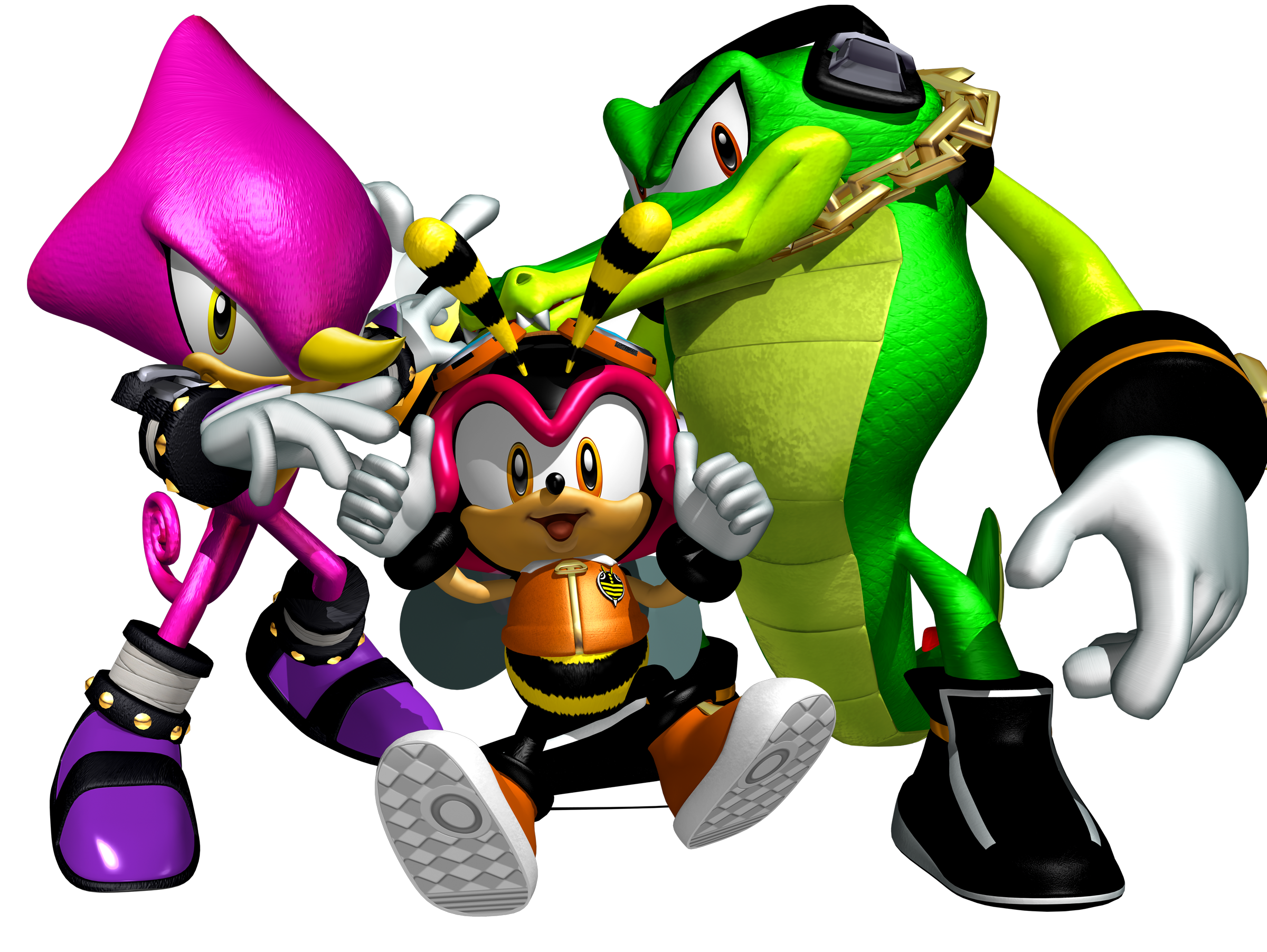 banner royalty free stock Sonic heroes and hero. Vector sprites team chaotix.