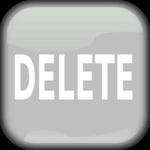 png black and white library Gray delete clip art. Vector button square