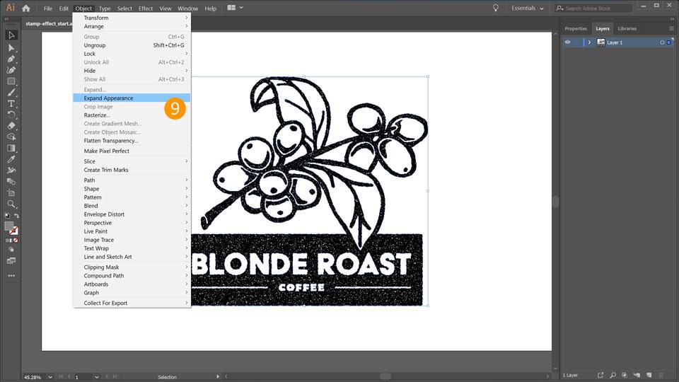 svg download How to make a. Vector stamp illustrator