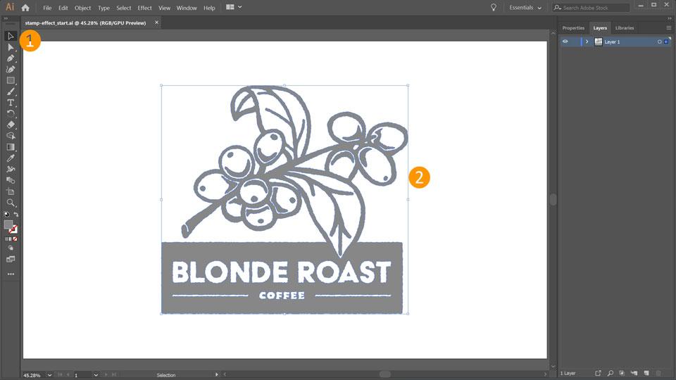 svg download Vector stamp illustrator. How to make a