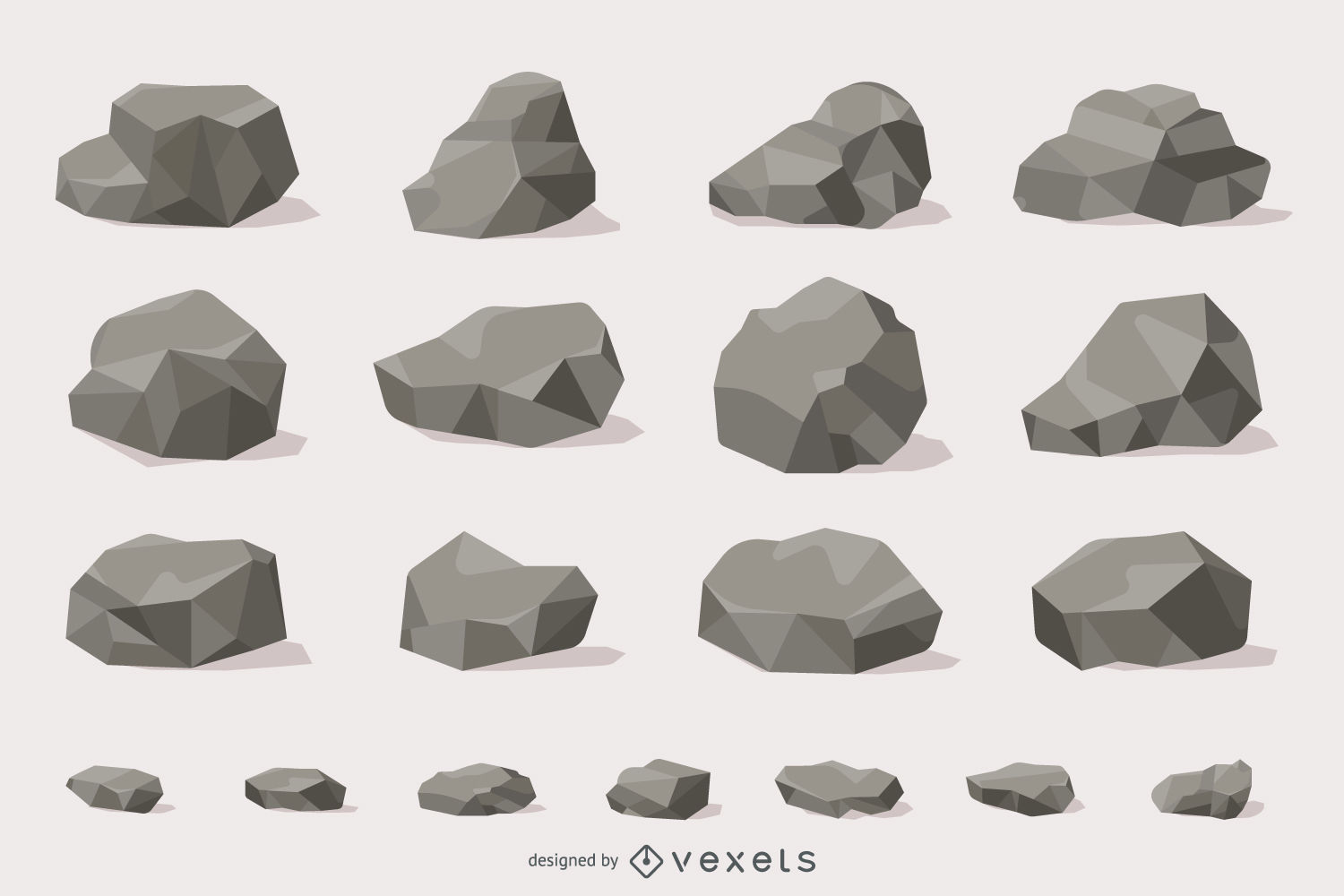 jpg royalty free library Vector stones. Rocks and illustration collection.