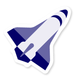 picture royalty free library Universe vector luar angkasa. Space shuttle icon free