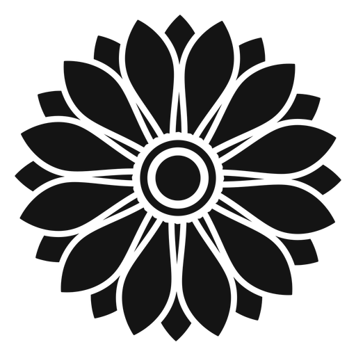 svg black and white Vector sunflower black and white. Flat grey head illustration.