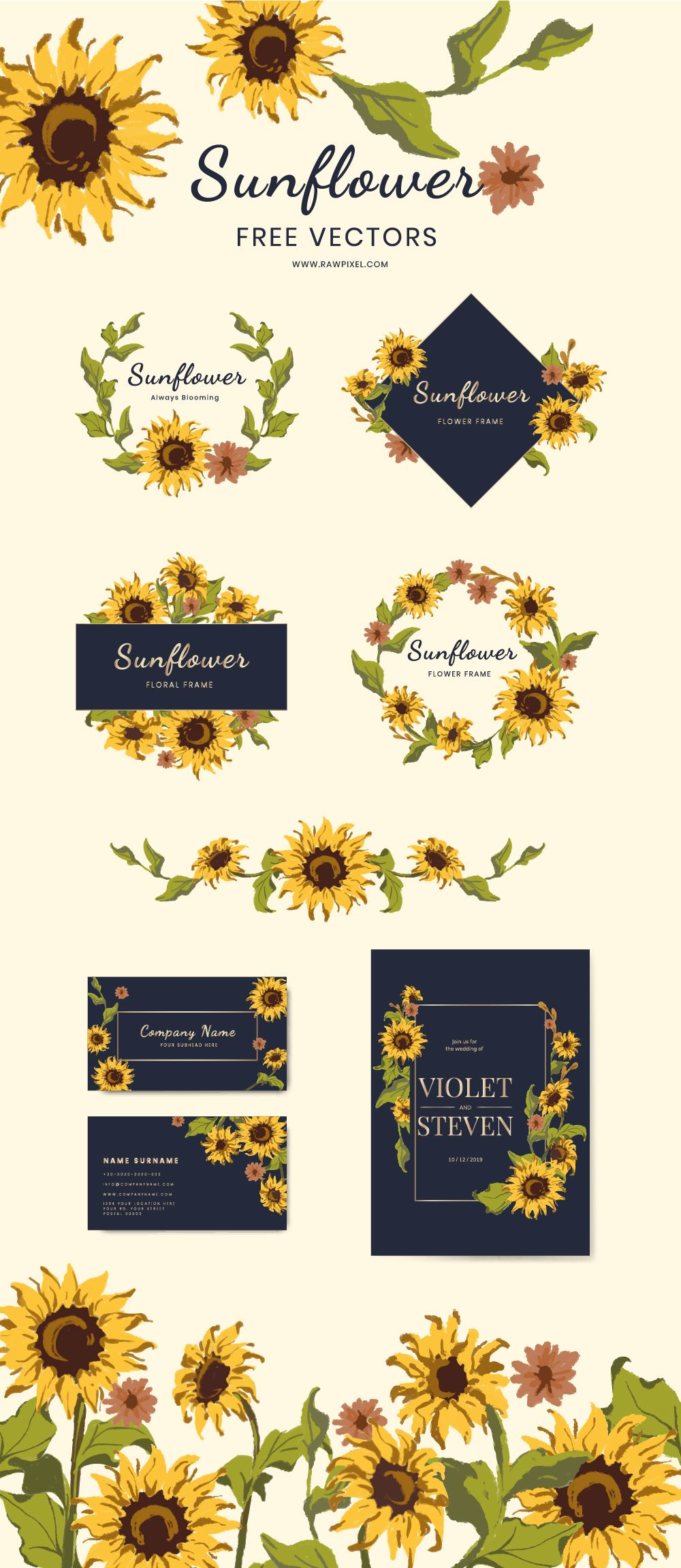 free Download free images at. Vector sunflower rustic.