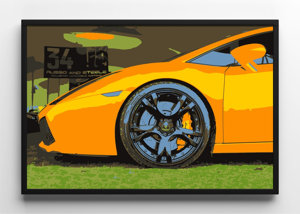 picture free library Vector supercars lamborghini gallardo. Art print