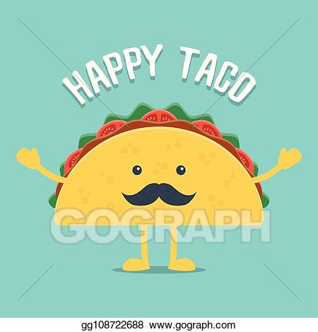 svg stock Vector taco. Eps mexican food stock
