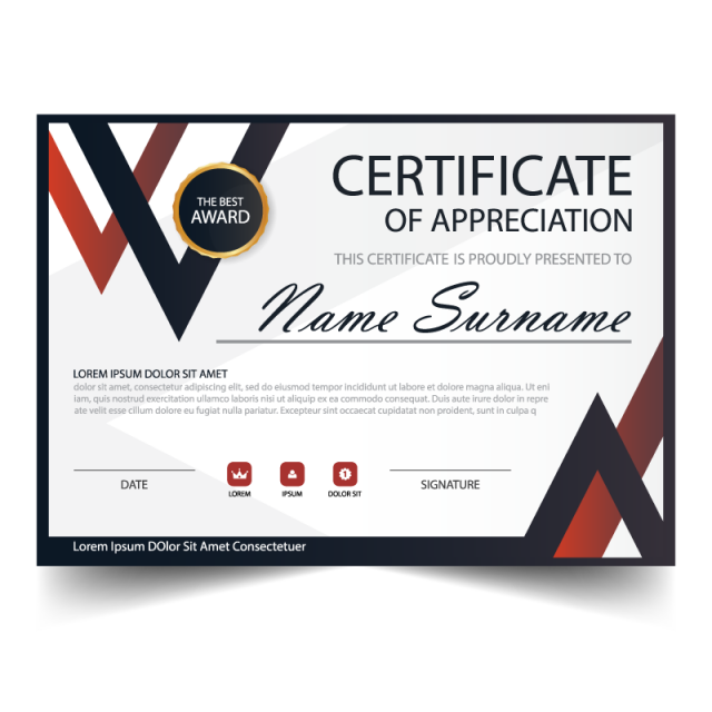 picture library library Vector certificate modern. Elegance horizontal with illustration